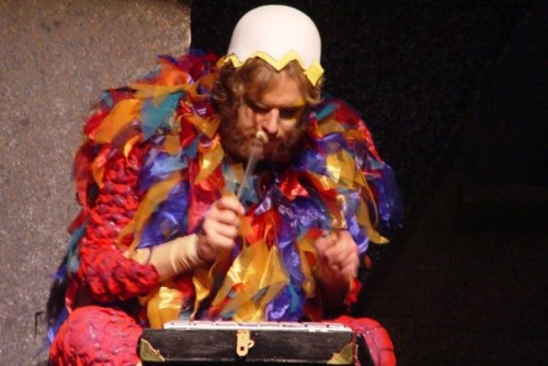 Jordan Eldredge as Papageno in SFSU's 2005 Magic Flute - Photo credit Isaac Benelli
